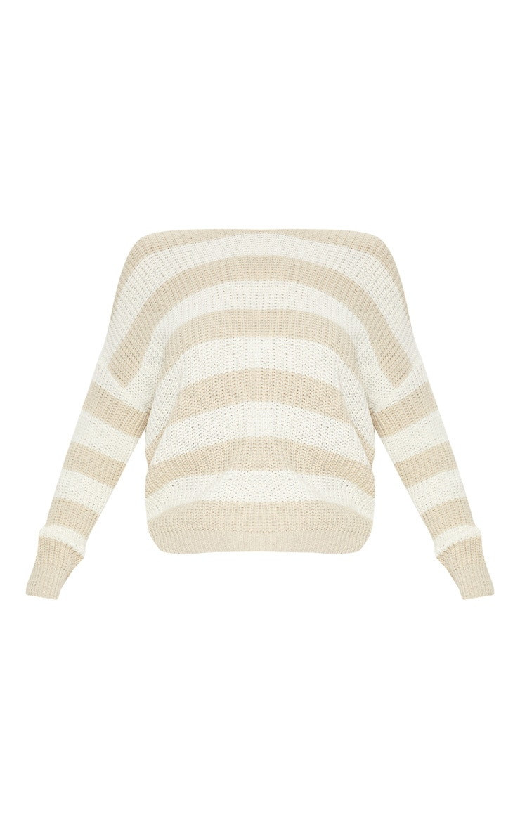 Stone Stripe Twist Back Sweater 3