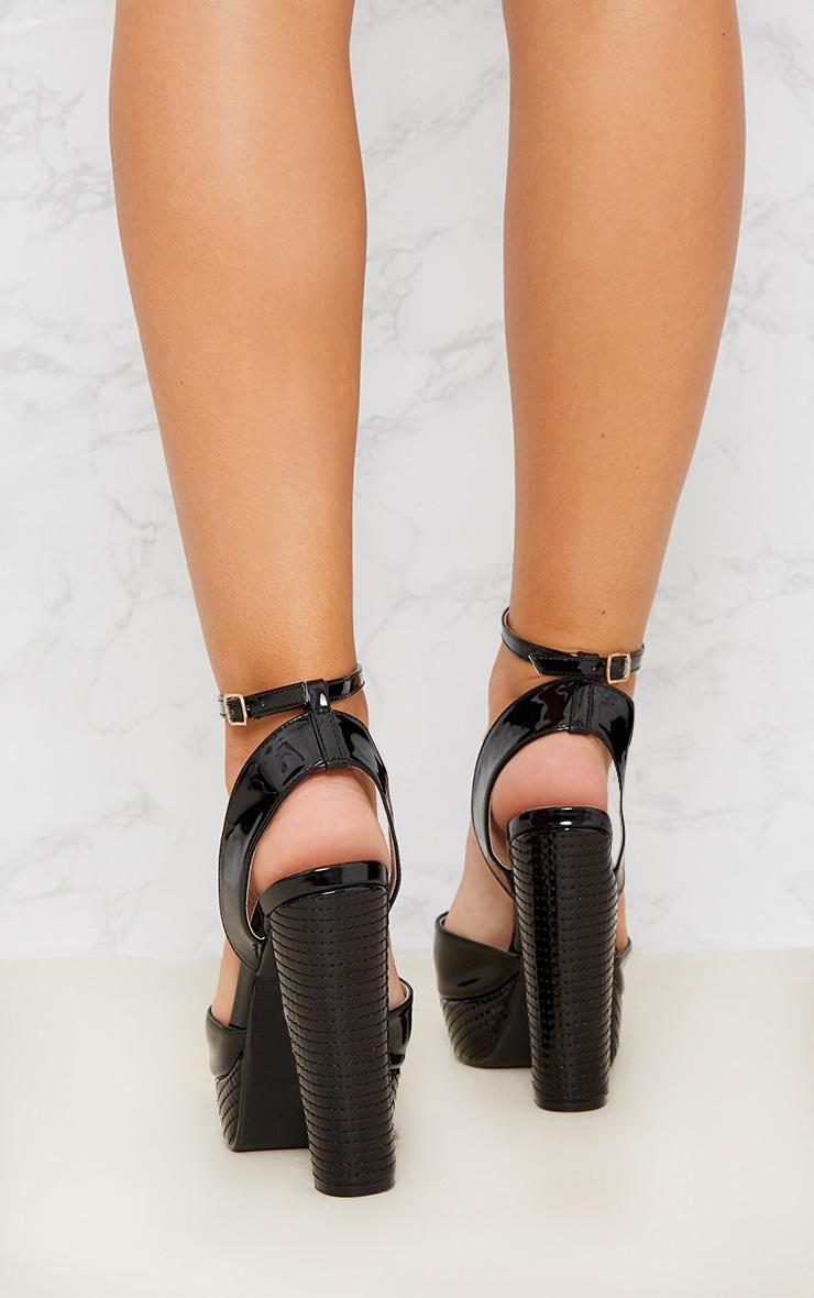 Black High Platform Heels 3