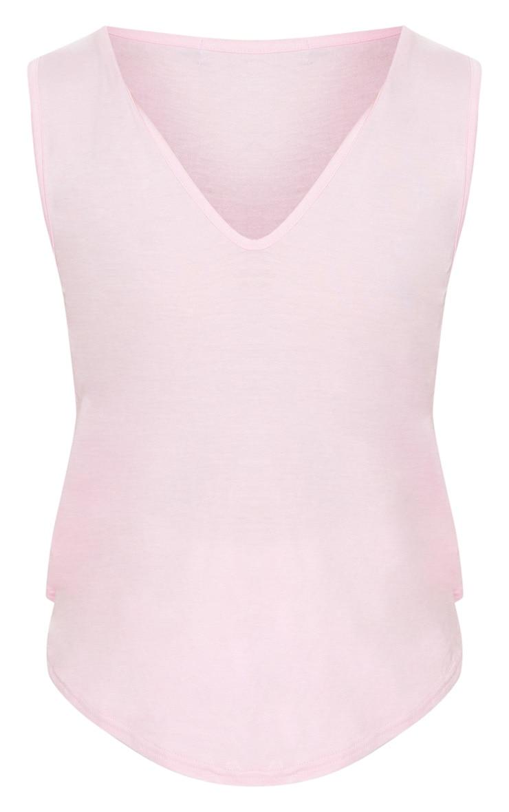 Basic Dusky Pink Plunge Vest 3