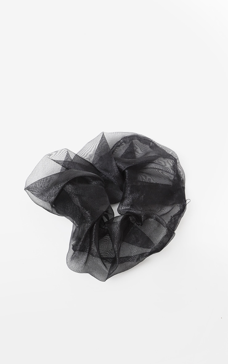 Black Organza Scrunchie 2
