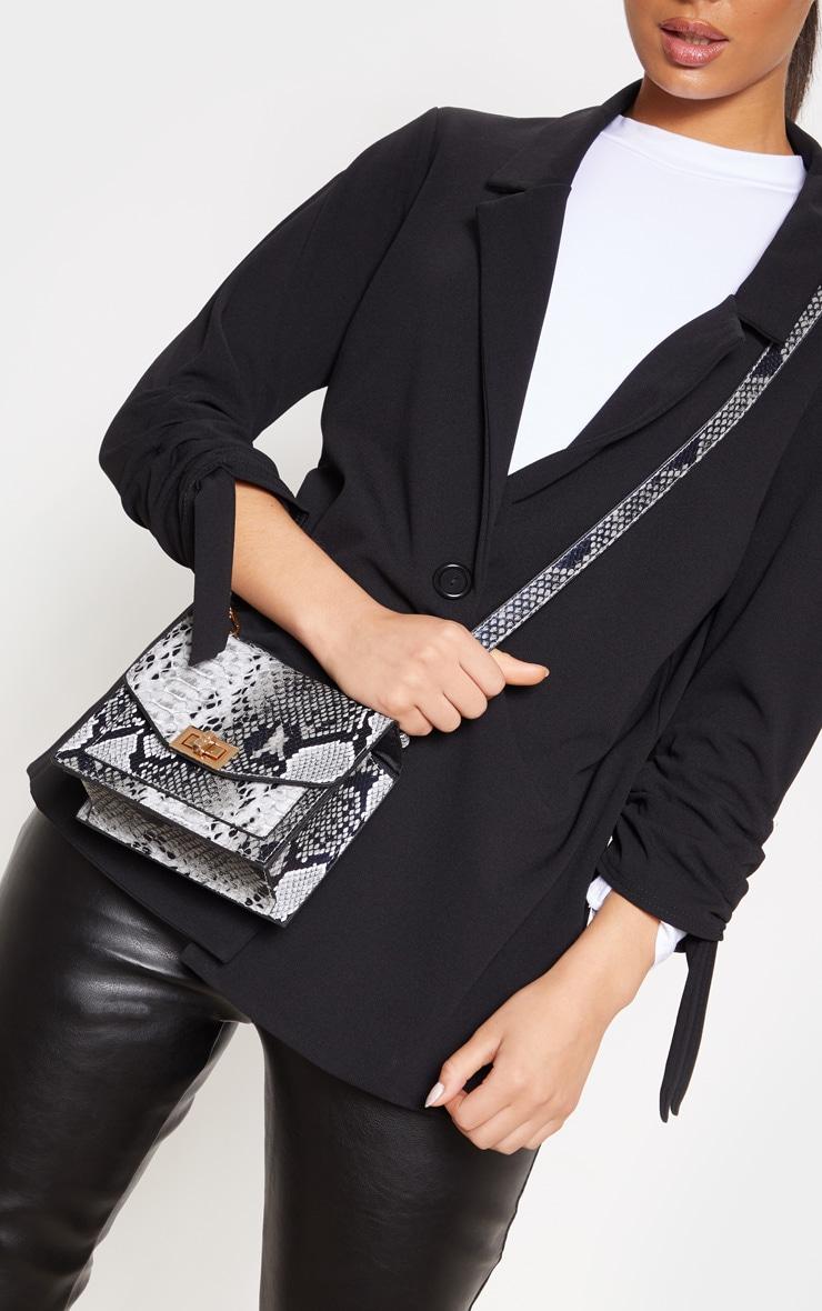 Grey Snake Cross Body Bag by Prettylittlething