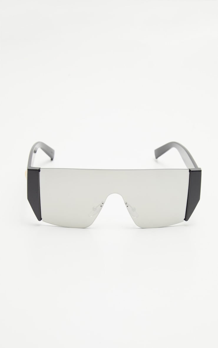 Silver Flat Top Statement Sunglasses 3