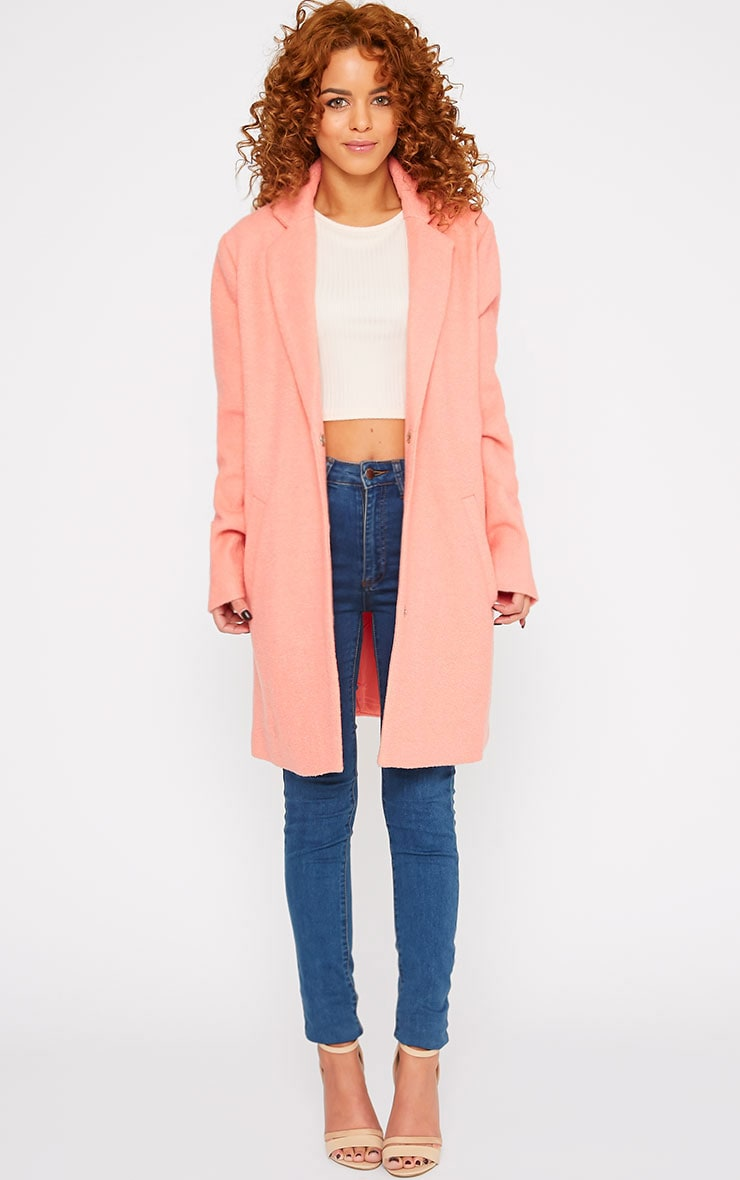 Tammy Coral Wool Coat 4