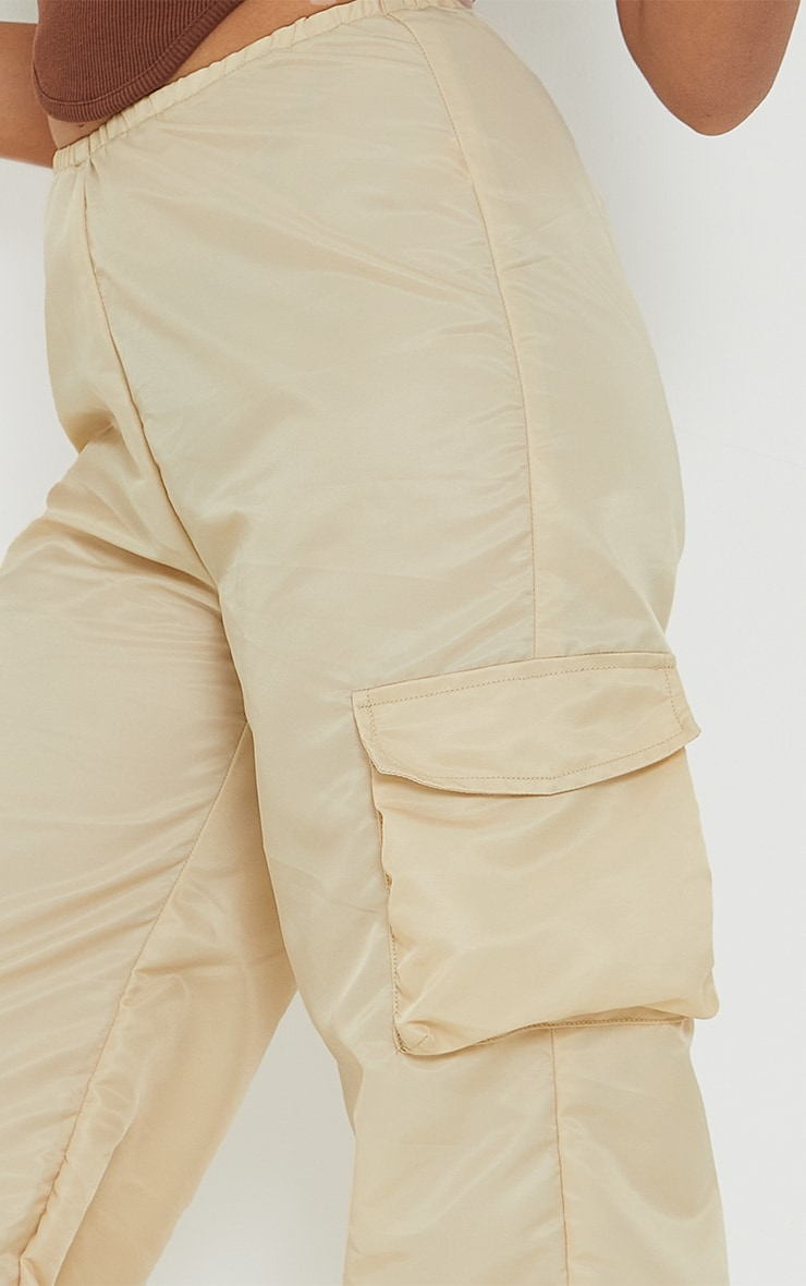 Petite Stone Dip Waist Cargo Trousers 4