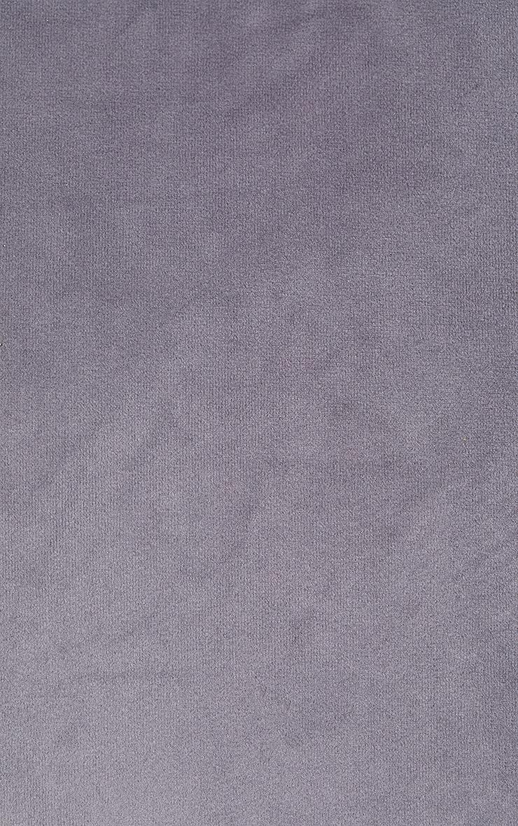 Grey Velvet Filled Cushion 5