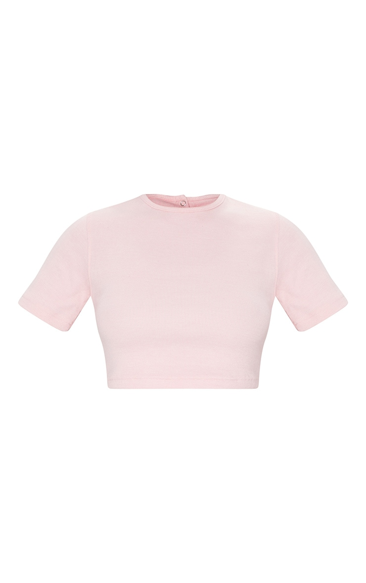 Baby Pink Circle Cut Out Back Crop Top 5