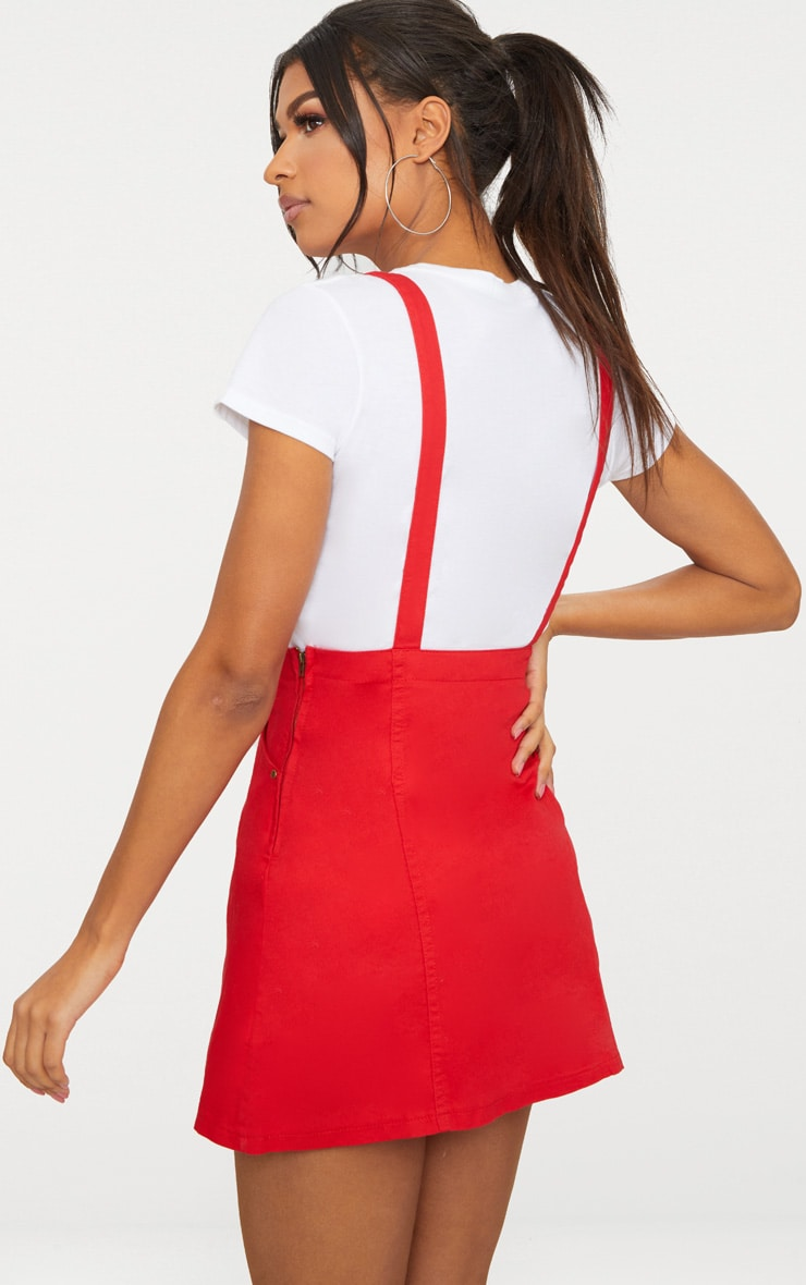 Red Pinafore Dress 2