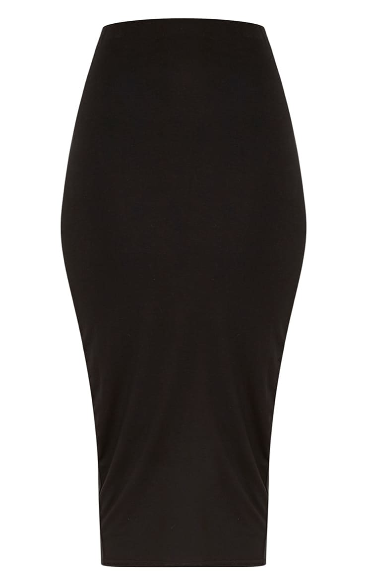 Basic Black Longline Midi Skirt 3