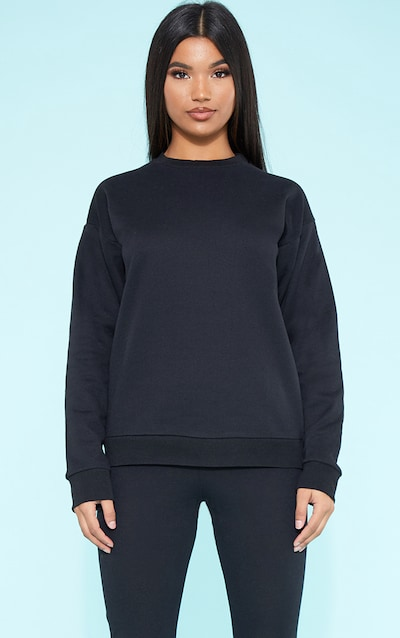 c3ef1d96ddf RECYCLED Black Crew Neck Sweater. More colours available