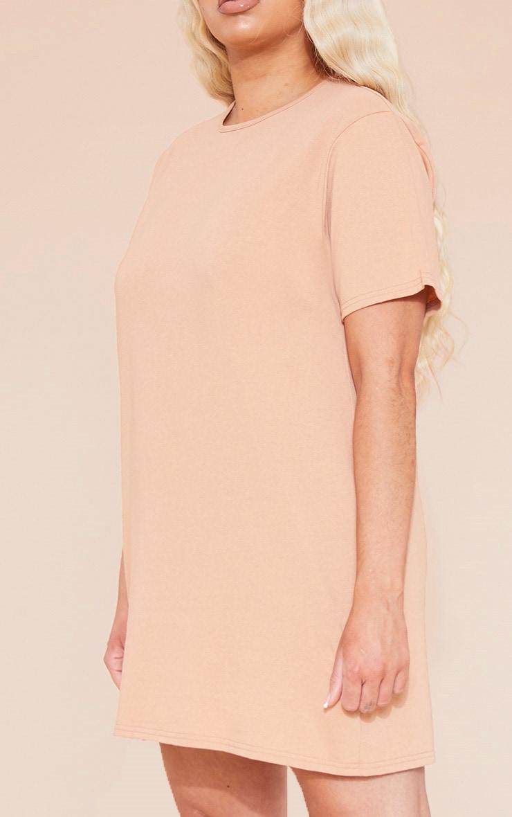 RECYCLED Plus Pale Tan T Shirt Dress 6