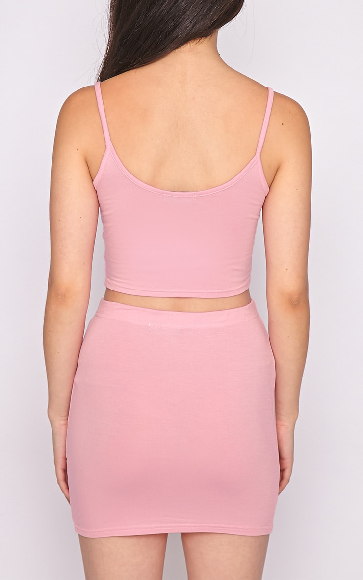 Basic Pink Jersey Mini Skirt 2