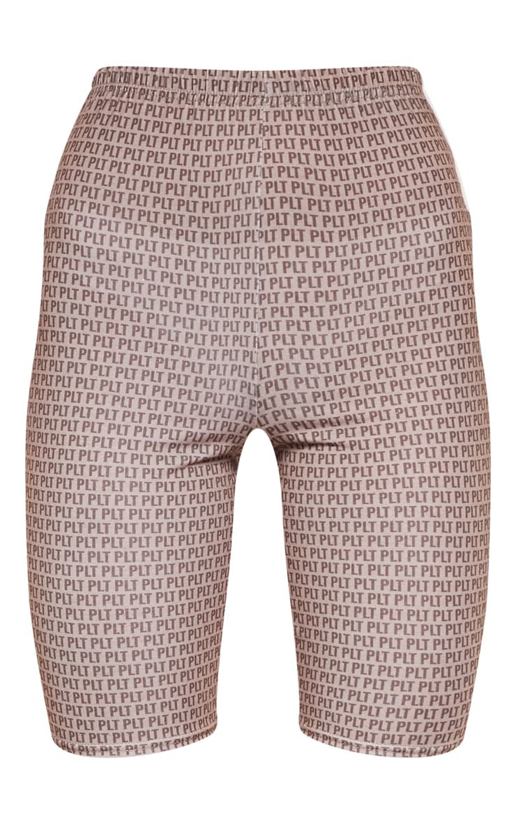 PRETTYLITTLETHING Mocha Printed Jersey Cycling Shorts 3