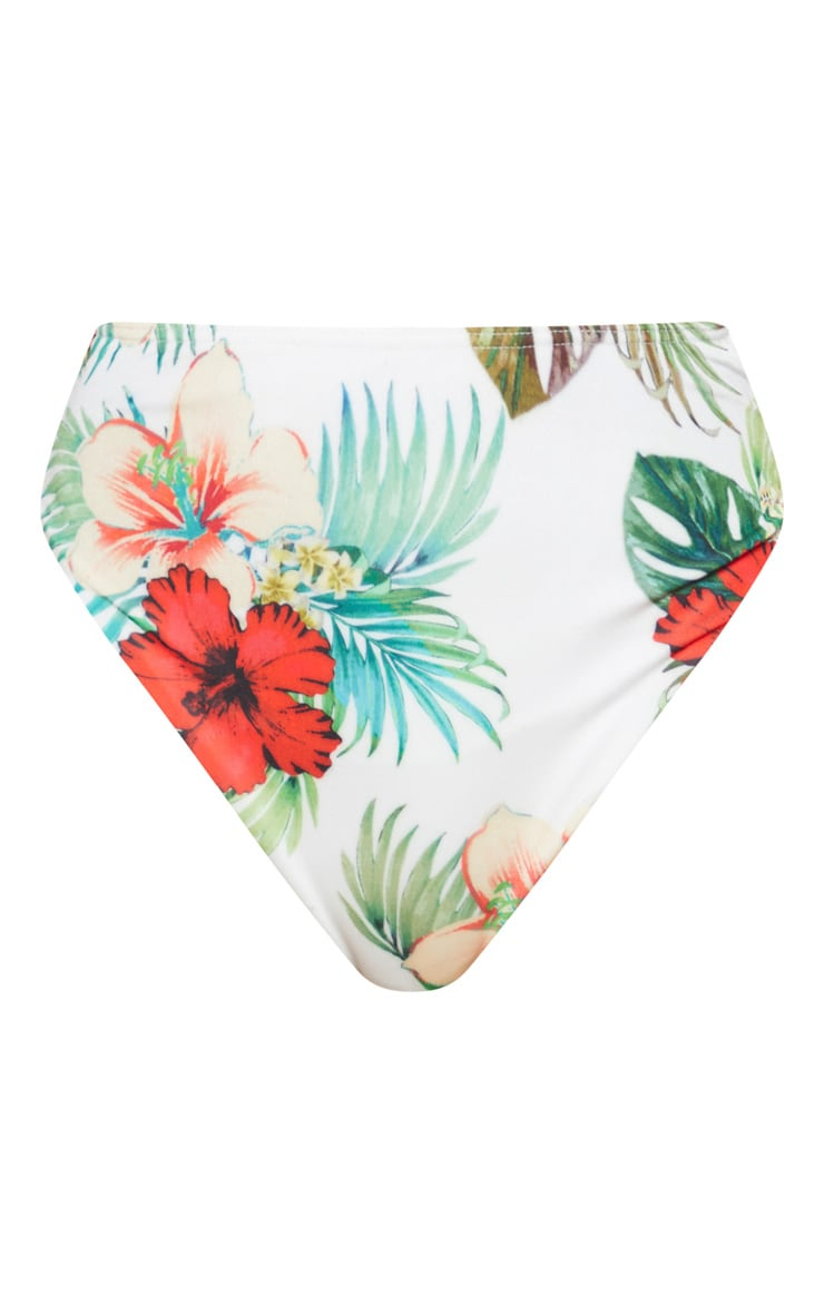 Multi Floral High Waist Bikini Bottom 3