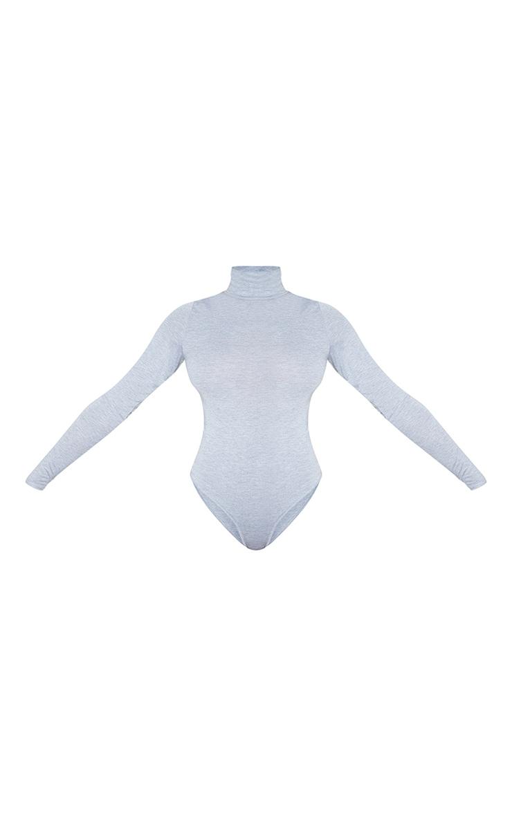 Tall Grey Roll Neck Bodysuit 3