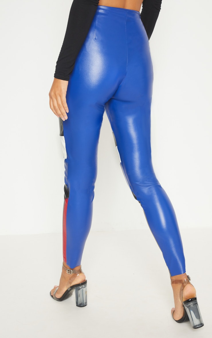 Cobalt Faux Leather Zip Up Front Skinny Trouser 4