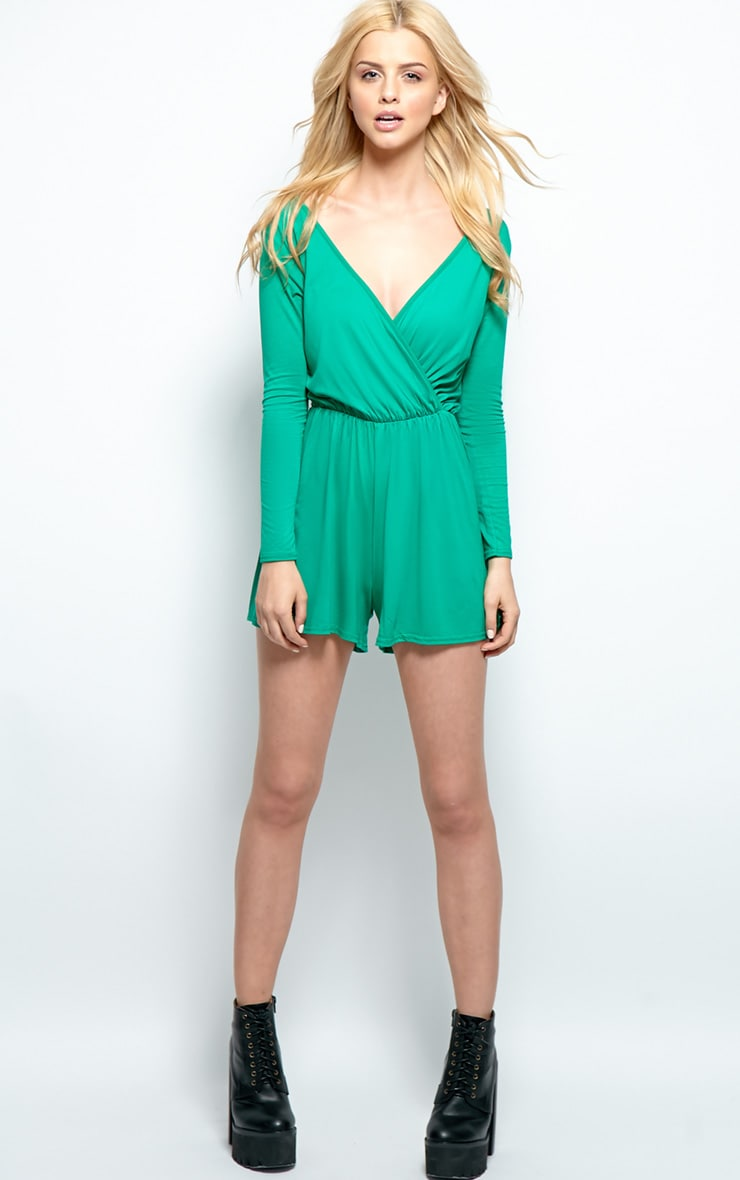 Maddison Green Wrap Over Playsuit  3