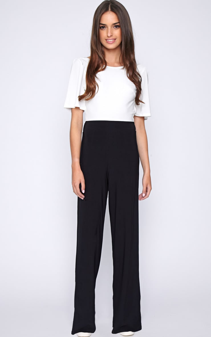 Trinity Monochrome Cut Out Back Jumpsuit  1