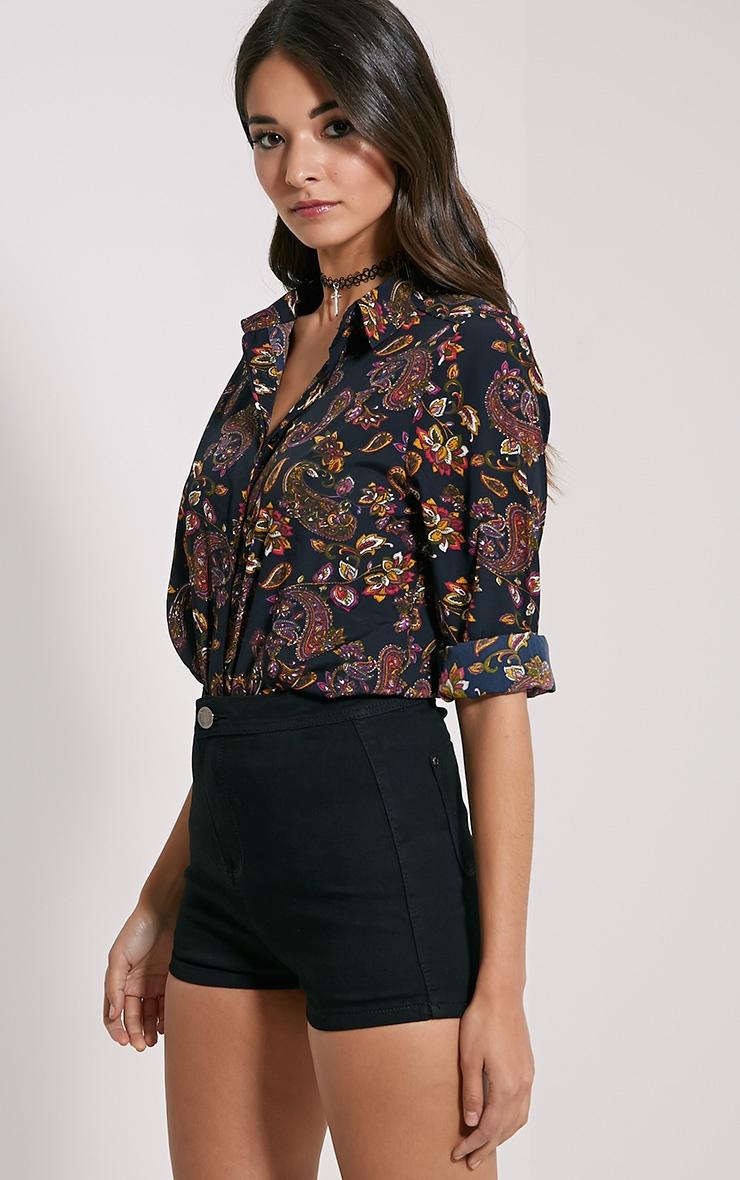 Haylie Black Paisley Shirt 4