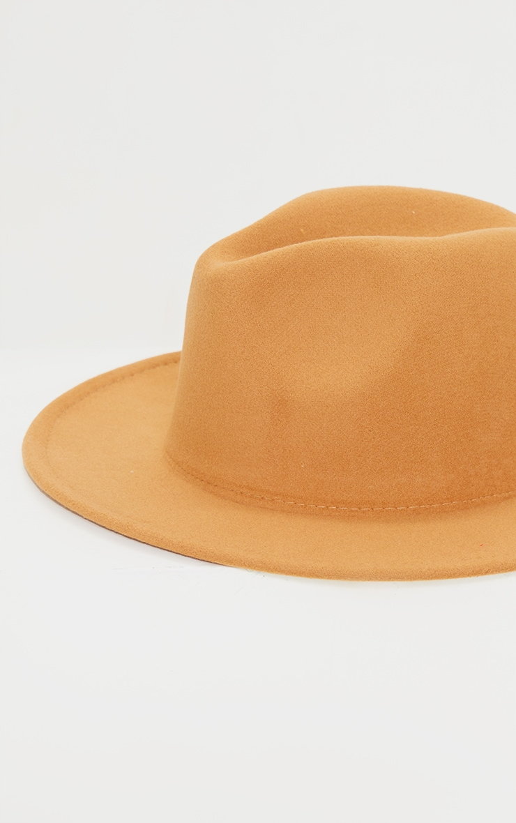 Tan Fedora Hat 3