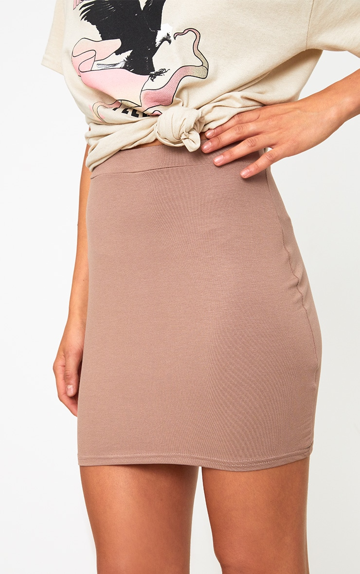 Taupe Ultimate Jersey Mini Skirt 5