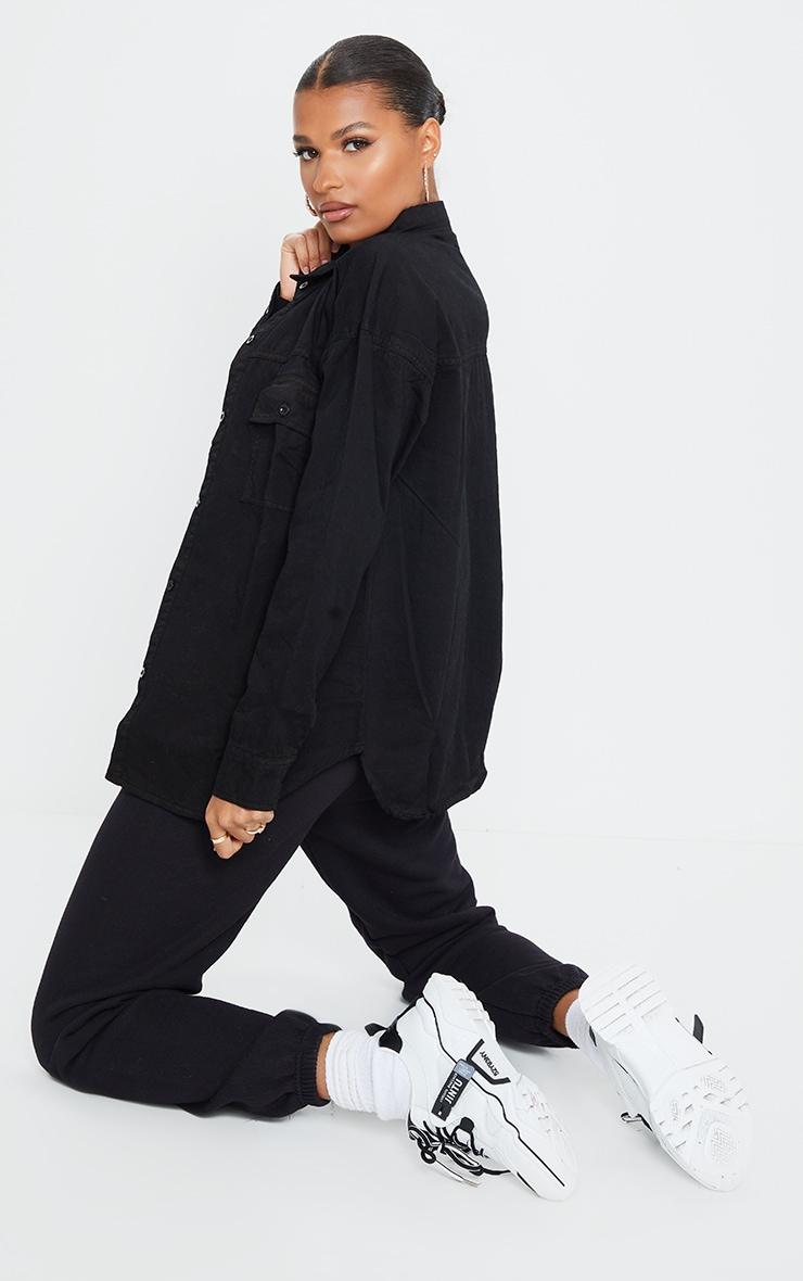 Chemise en jean noir  2