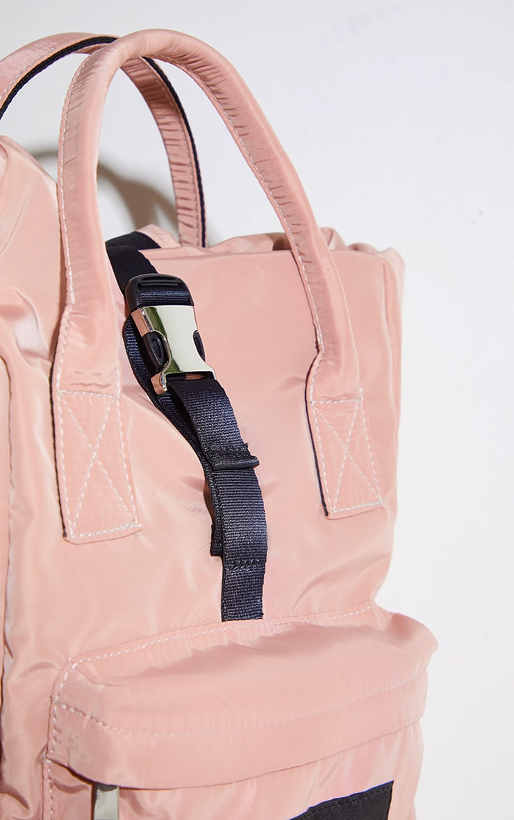 PRETTYLITTLETHING Pink Multi Pocket With Handle Backpack 2