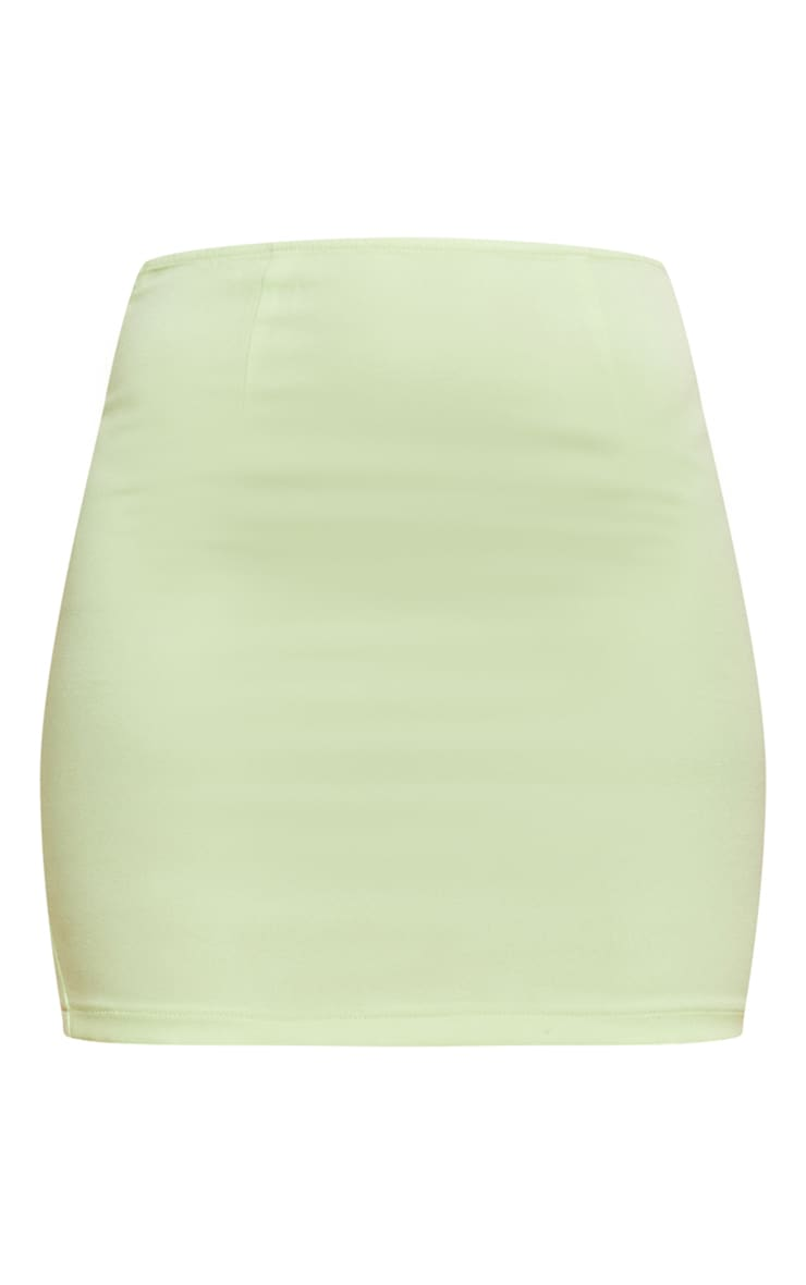 Pastel Lime Woven Mini Skirt 6