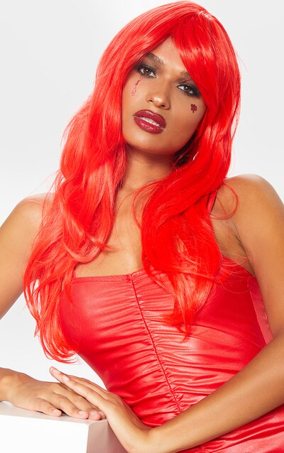 Red Premium Long Wig