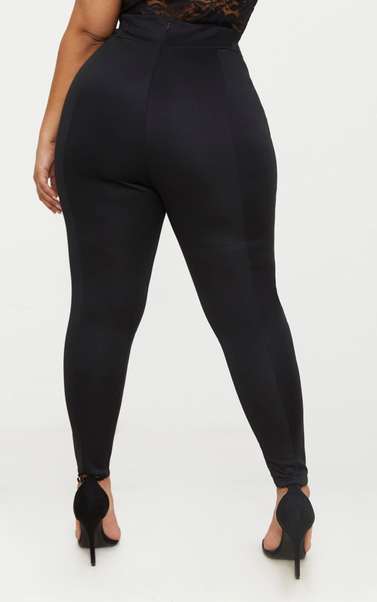 Plus Black Extreme High Waist Leggings 3