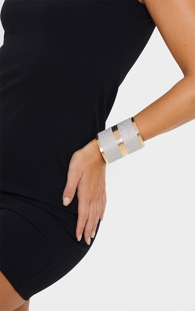Gold Diamante Oversized Cuff