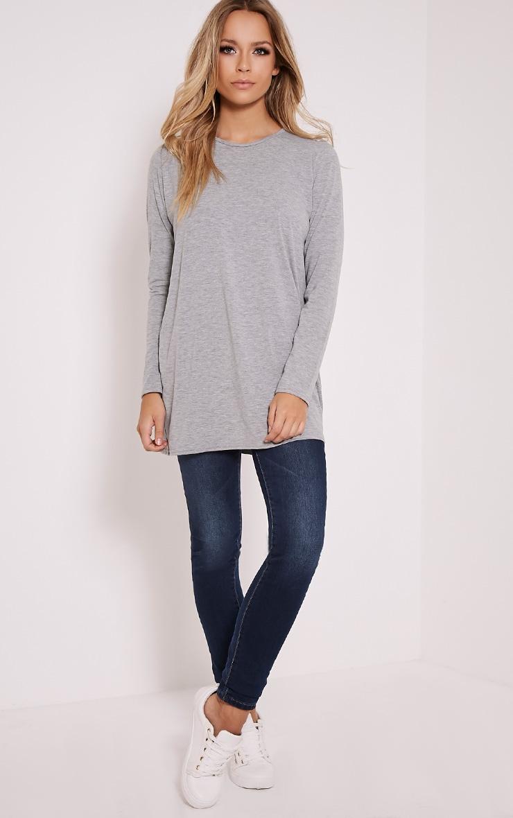 Basic Grey Raglan Sleeve Jersey Top 5