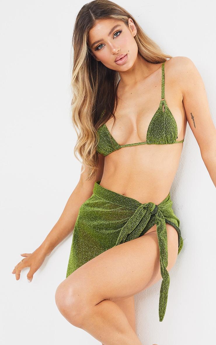 Green Glitter Sarong 5