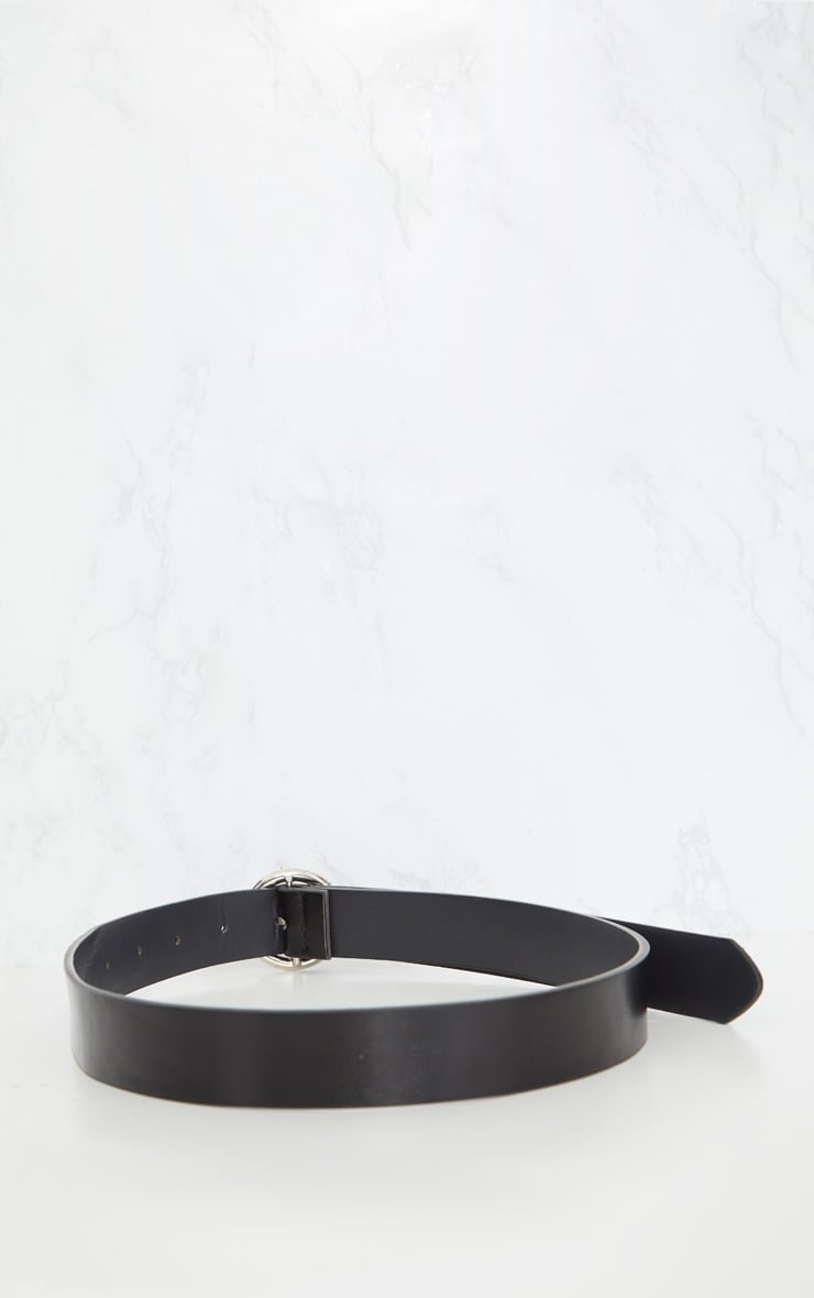 Black Basic Circle Buckle Belt 5