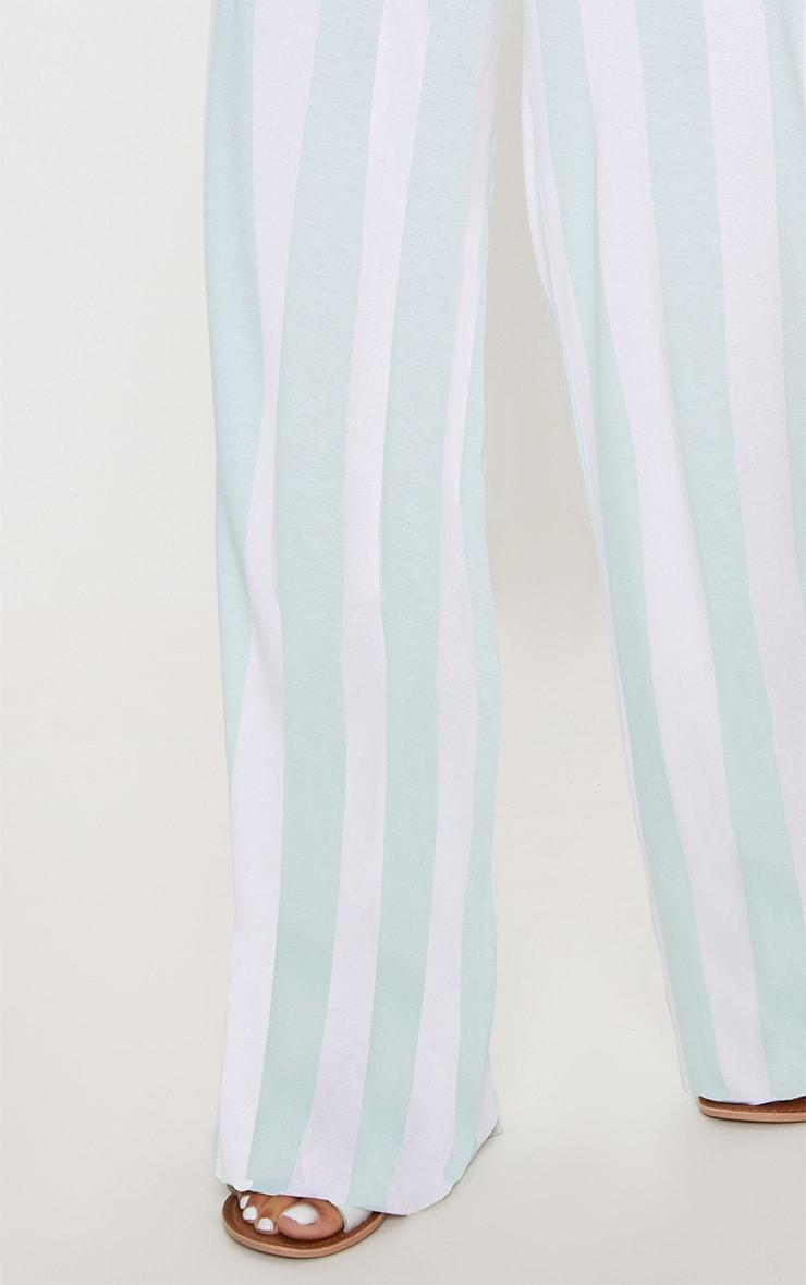Mint High Waisted Stripe Wide Leg Trouser 5