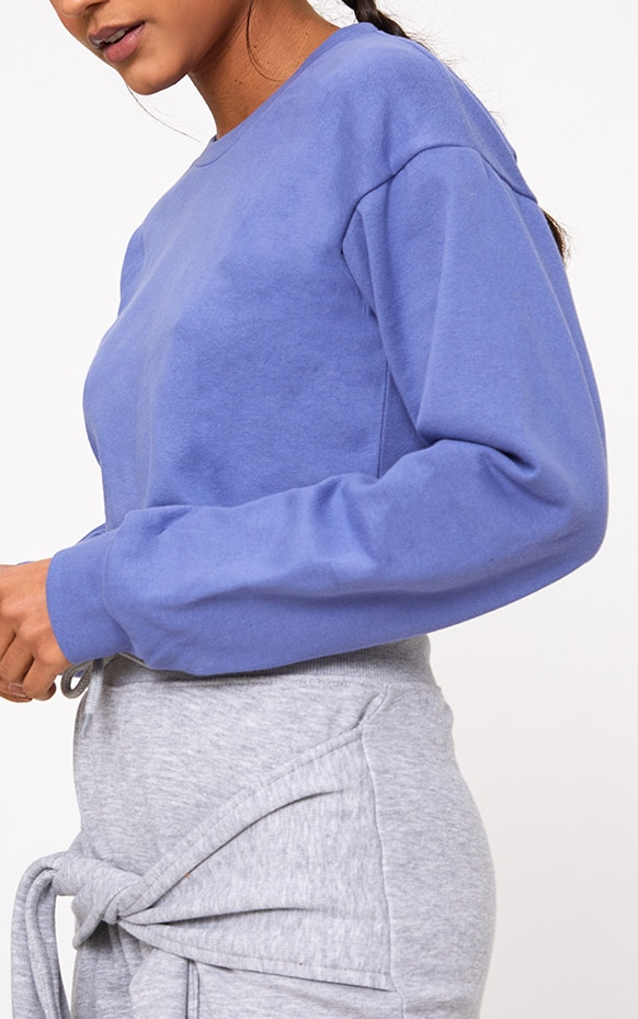 Beau Blue Cut Off Crop Longsleeve Sweater 5