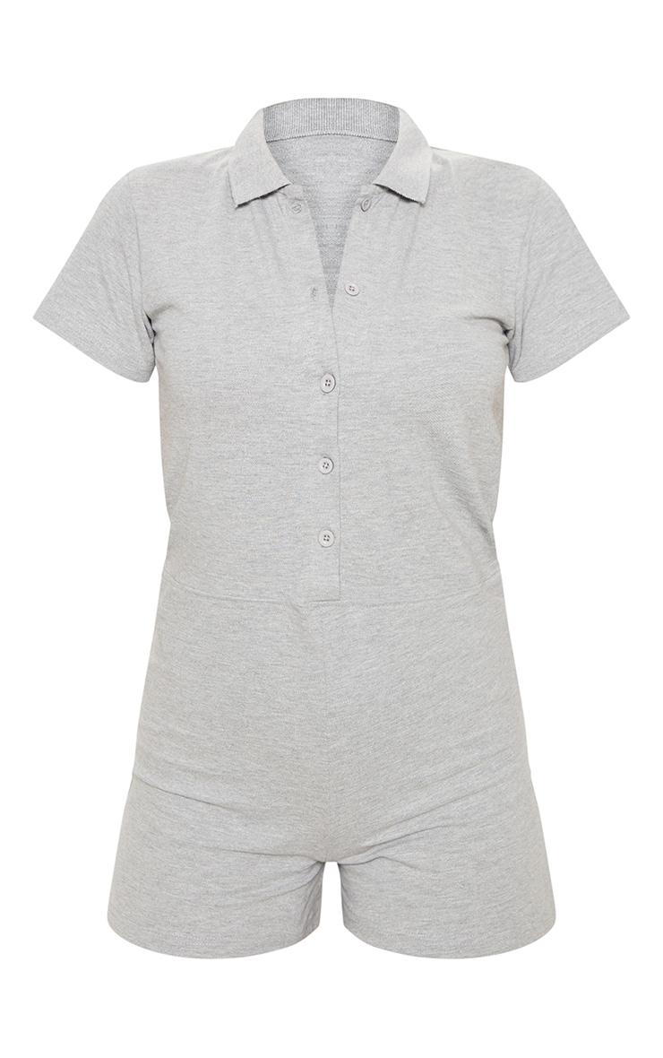 Grey Polo Shirt Romper 3