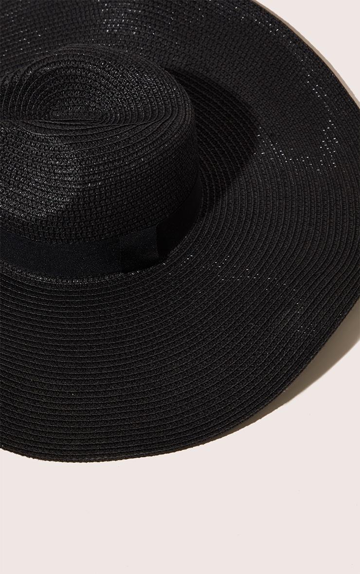 Black Wide Band Oversized Fedora 4