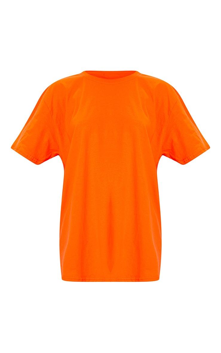 Lot de 2 robes tee-shirt à slogan & unie - Gris anthracite et orange 6