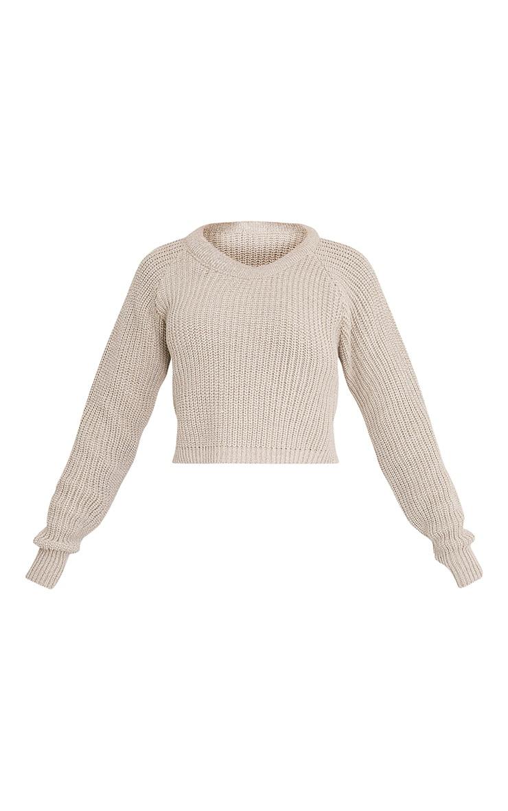 Oceana pull court gris pierre tricoté mixte 3