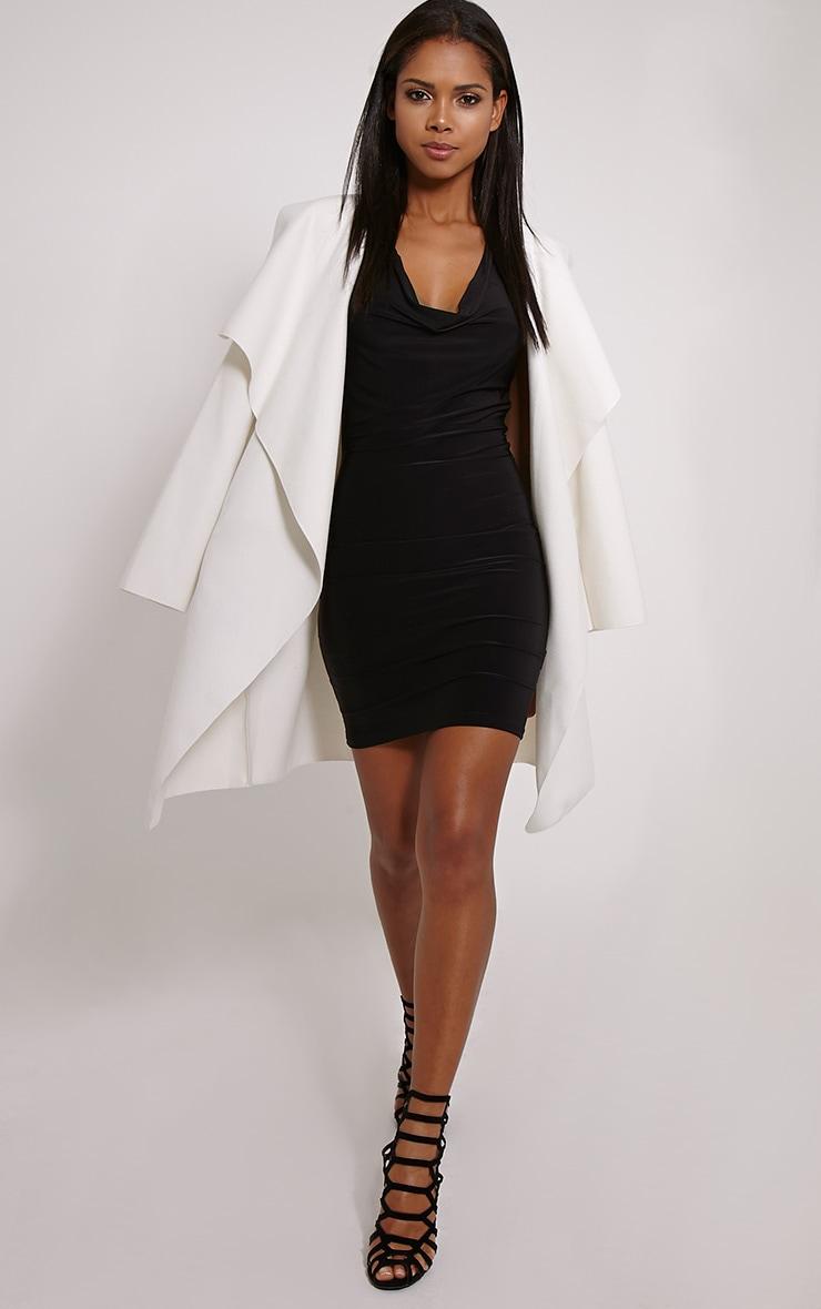 Sammia Black Racer Back Mini Dress 3