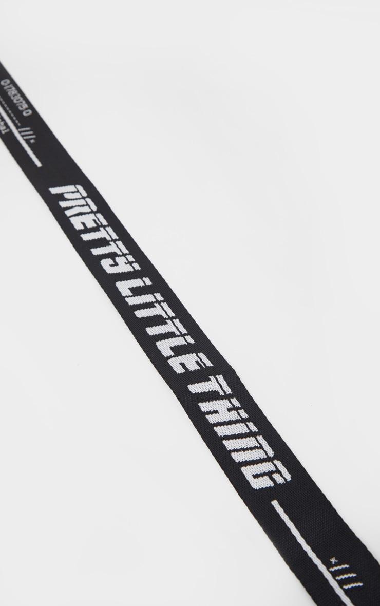 PRETTYLITTLETHING Plus Black Reversible Taping Belt 2