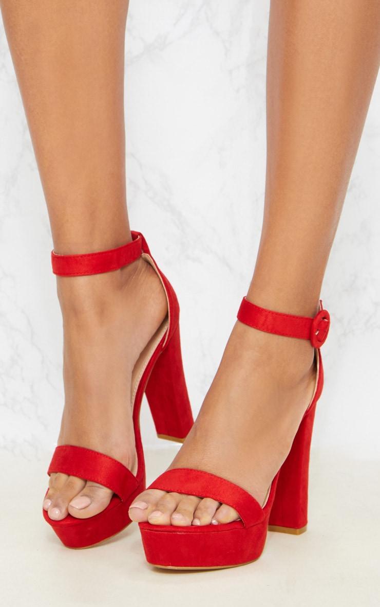 Red Platform Heel Sandal 2
