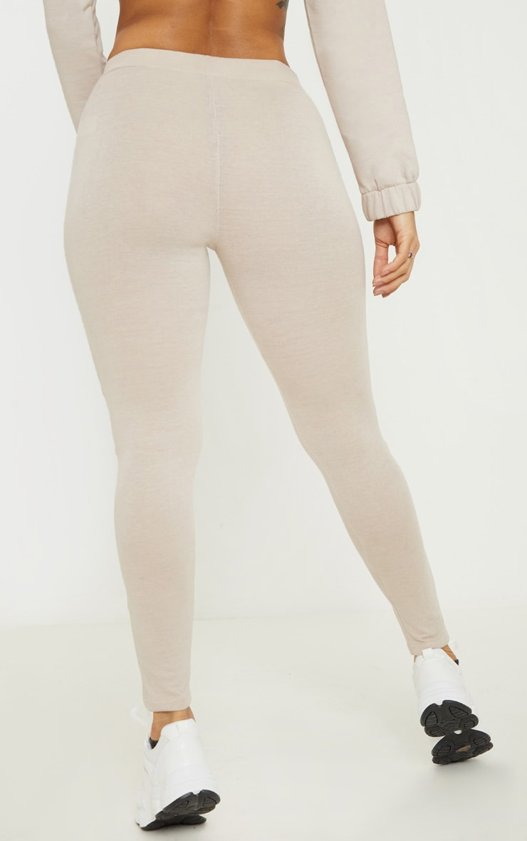 Oatmeal Marl Panel Gym Legging 4