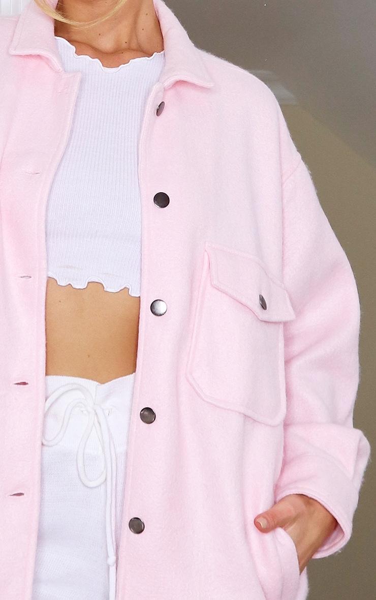 Pink Pocket Front Shacket 4