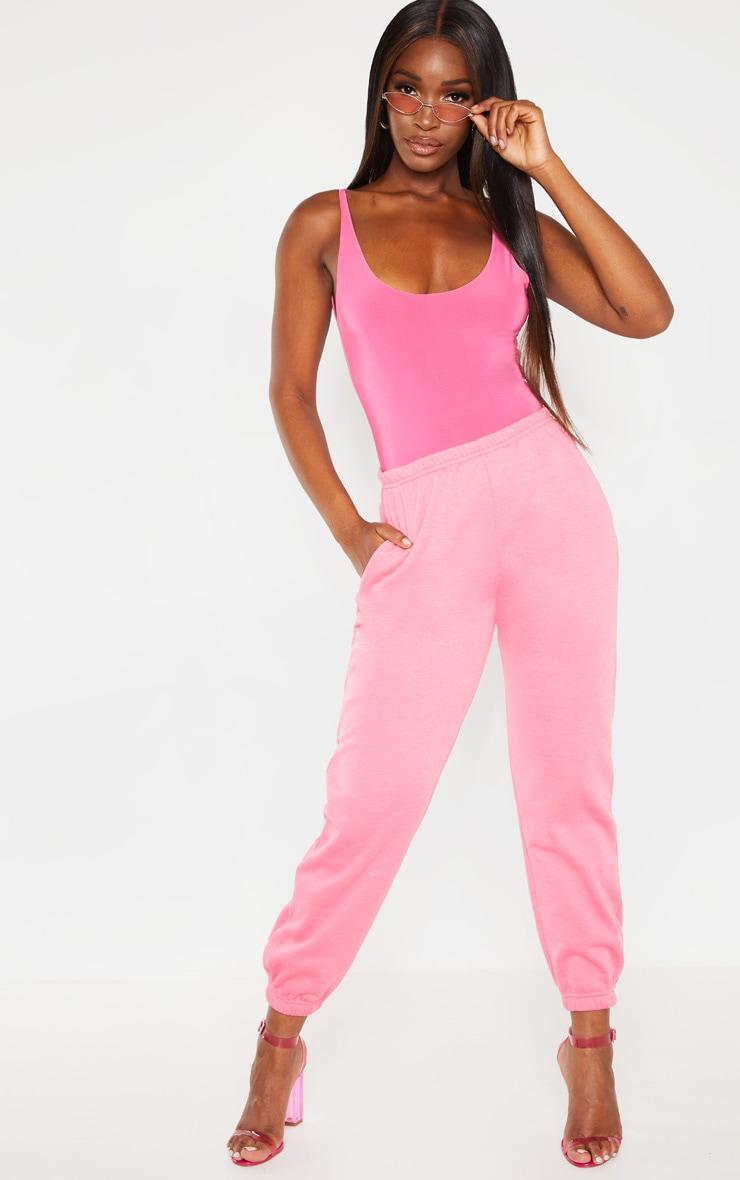 Hot Pink Casual Jogger 1