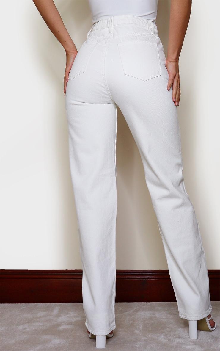 Off White High Waist Straight Leg Jean 3