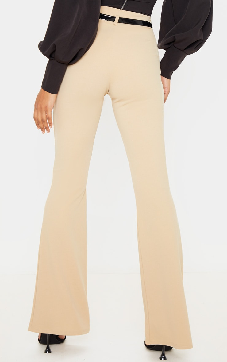 Stone Flared Belted Trouser 3
