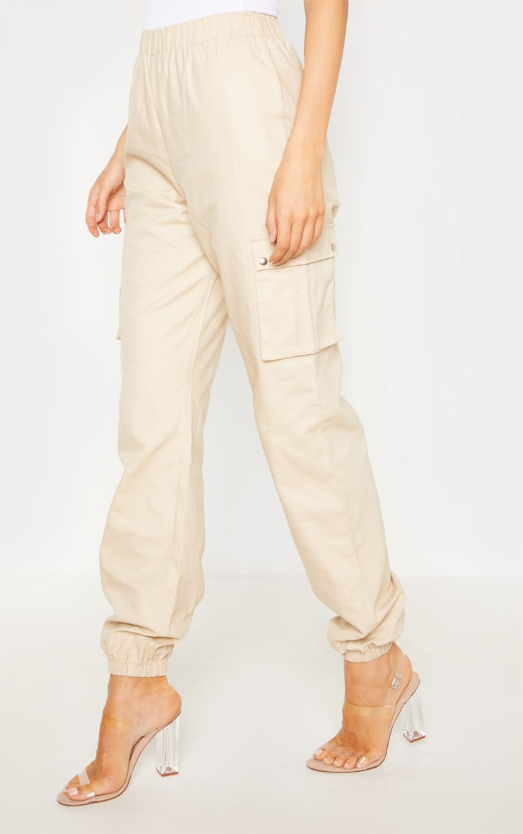 Tall Cream Pocket Detail Cargo Pants 2