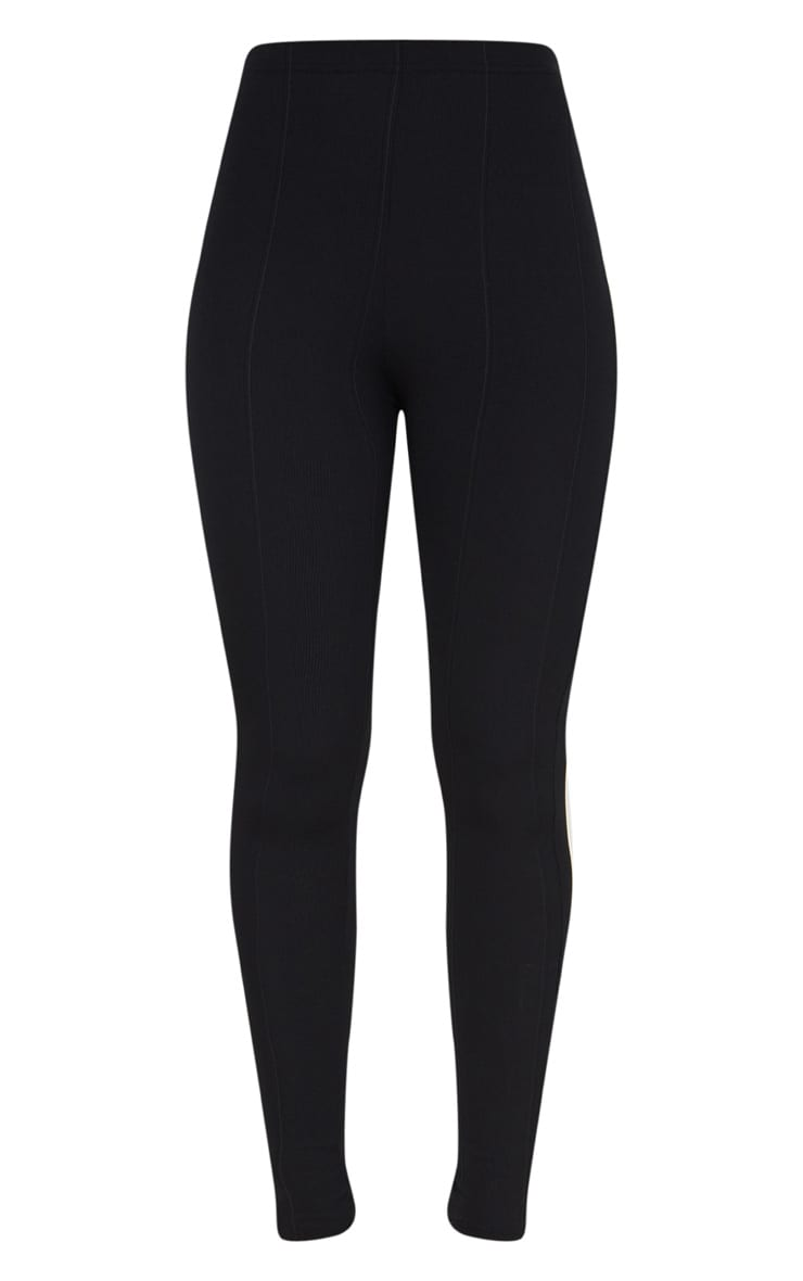 Black High Waisted Bandage Leggings 3