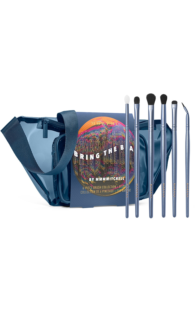 Morphe Bring The Beat MMMMitchell 6 Piece Brush Collection and Belt Bag 2